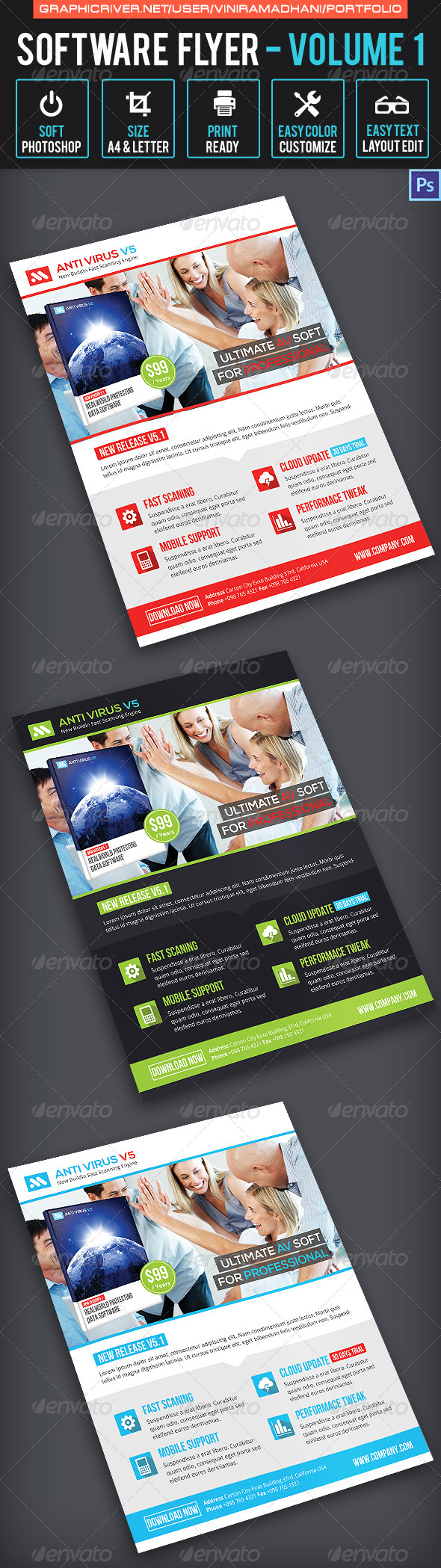 GraphicRiver Software Flyer Volume 1 7605474