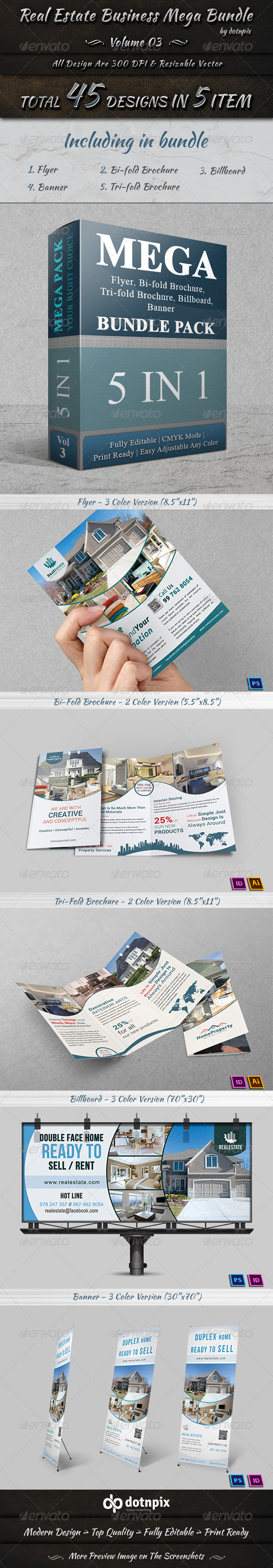 GraphicRiver Real Estate Business Mega Bundle Volume 3 7596671