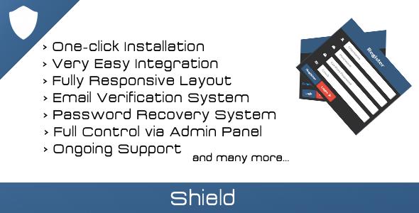 CodeCanyon Shield Login Register & User Management 7593409