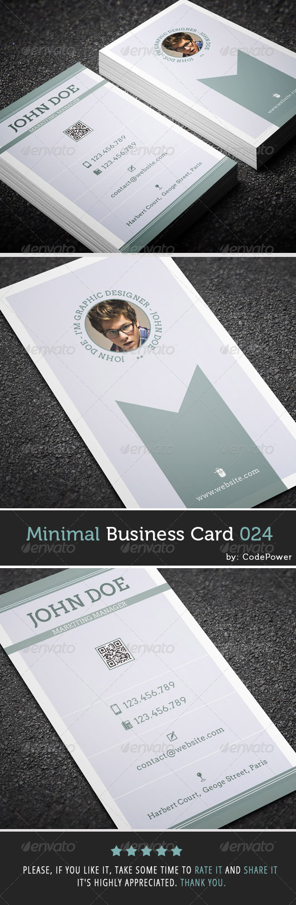 GraphicRiver Minimal Business Card 024 7605495