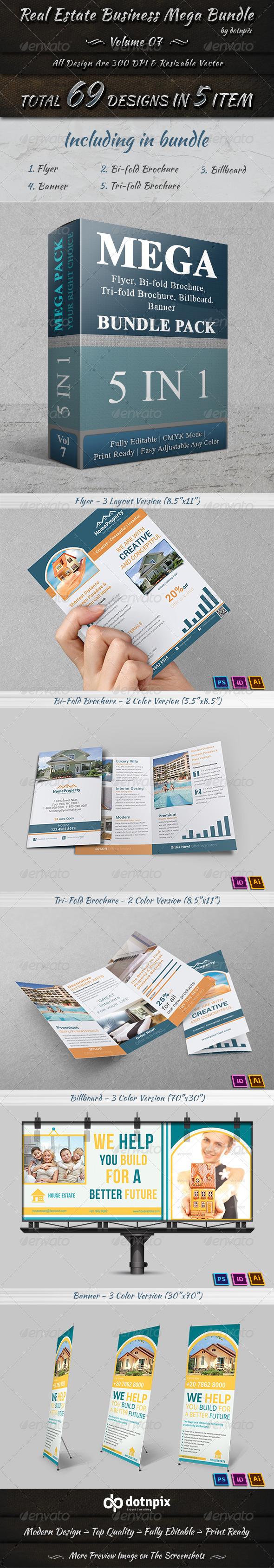 GraphicRiver Real Estate Business Mega Bundle Volume 7 7596617