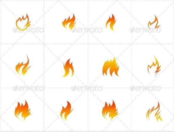 GraphicRiver Fire Icon Set 7605581