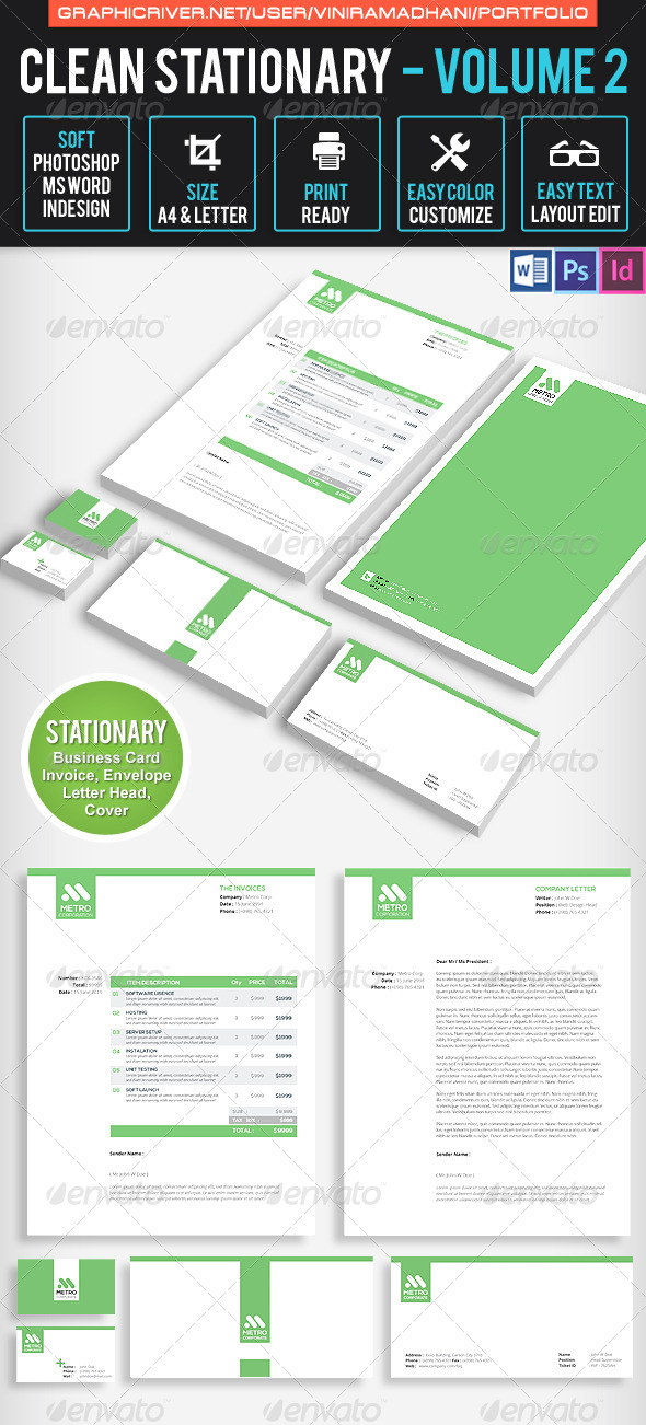 GraphicRiver Clean Stationary Volume 2 7605591