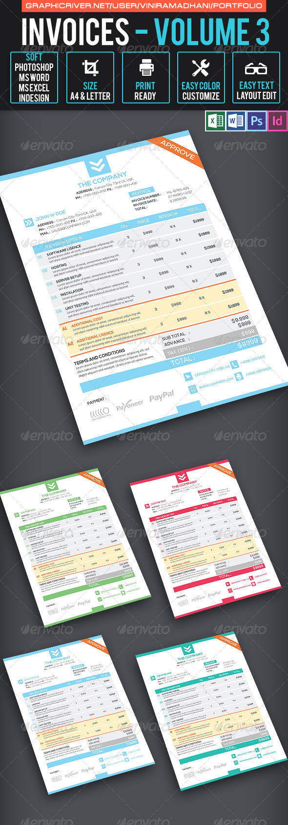 GraphicRiver Invoices Volume 3 7605619