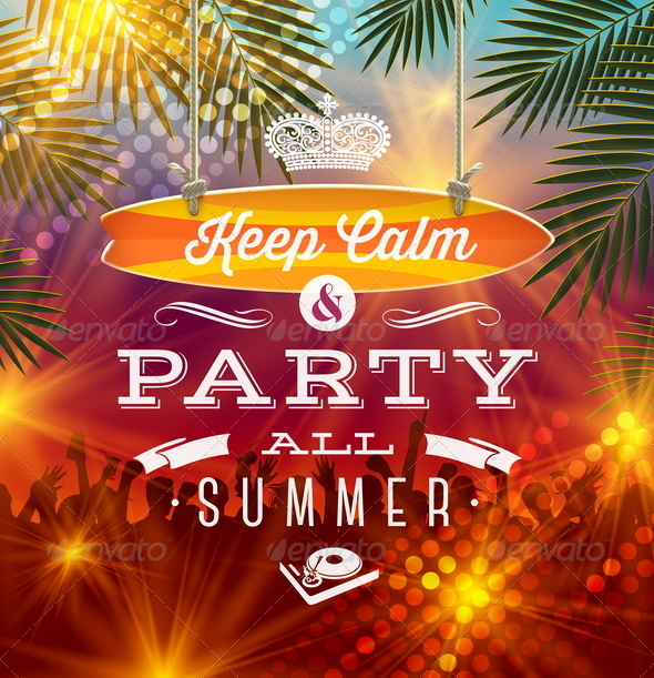 GraphicRiver Summer Party Design 7605717