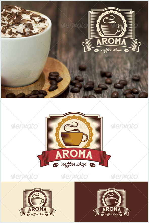 GraphicRiver Vintage Coffee Shop 7605898