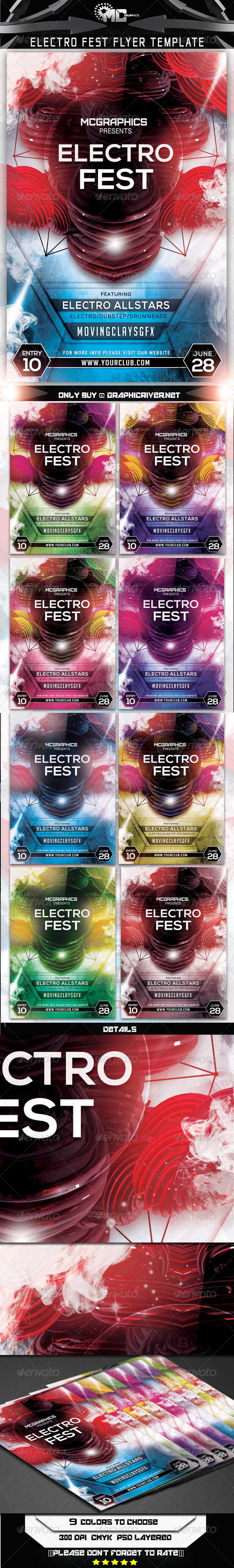 GraphicRiver Electro Fest Flyer Template 7550921
