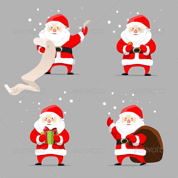 GraphicRiver Santa Claus Set 7605951