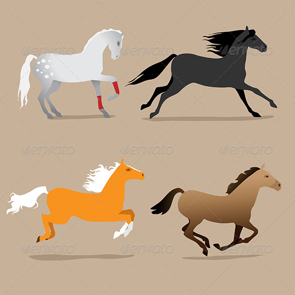GraphicRiver Horse Poses 7606003