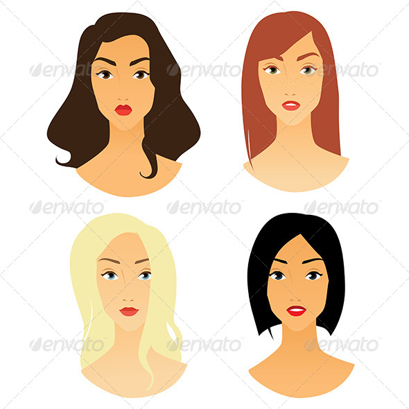 GraphicRiver Women Faces 7606070
