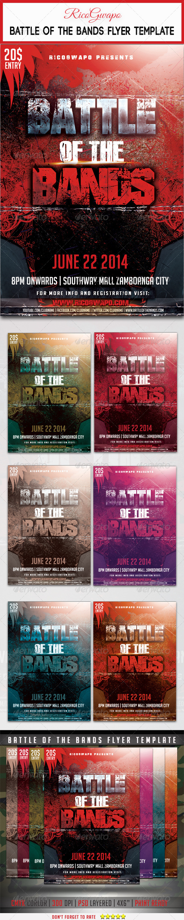 GraphicRiver Battle of the Bands Flyer Template 7606107