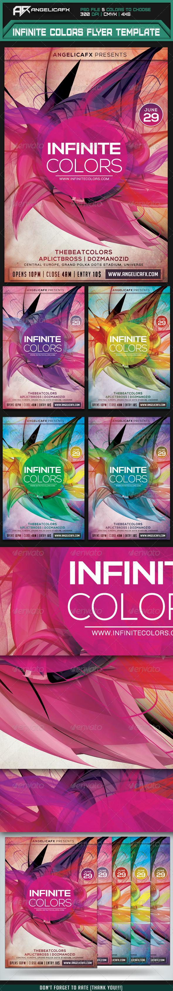 GraphicRiver Infinite Colors Flyer Template 7606152