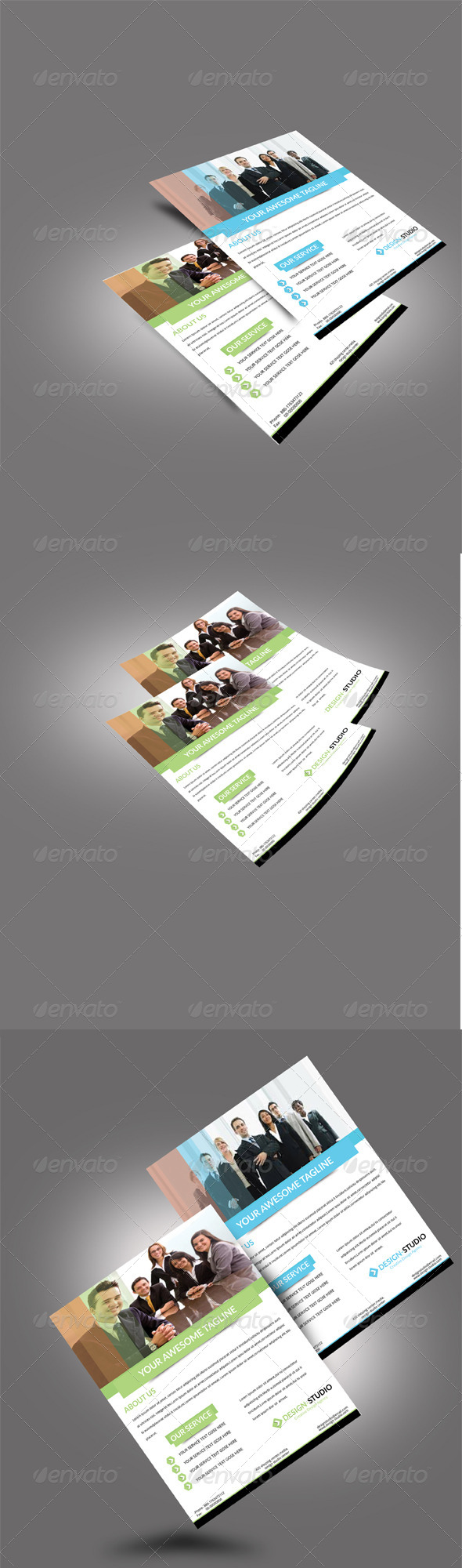 GraphicRiver Flyer Resumes Mock-ups Template V1 7606153