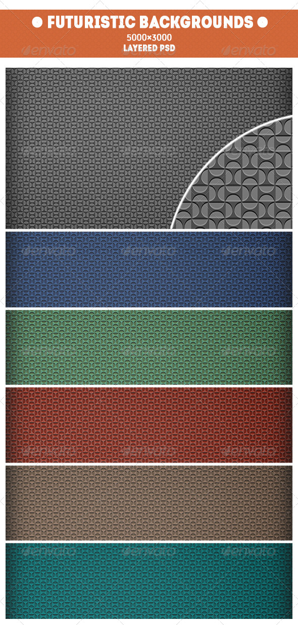GraphicRiver Futuristic Backgrounds 7606164