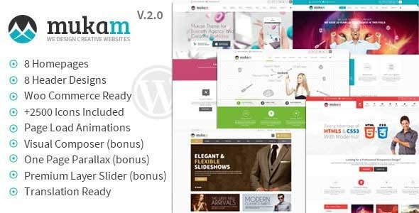 Mukam v2.0 - Limitless Multipurpose WordPress Theme