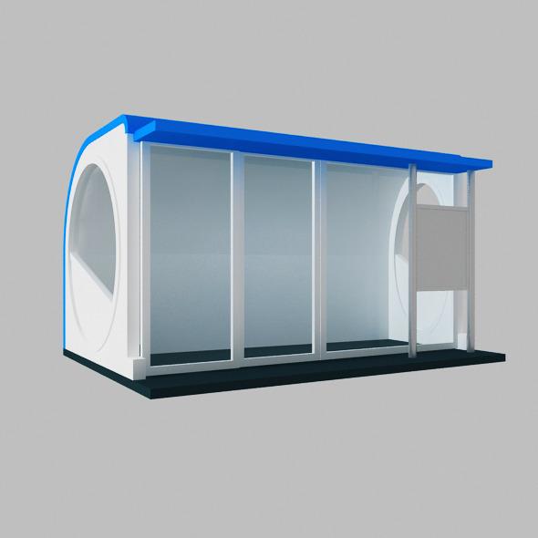 3DOcean Kiosk Circle Box 7606183