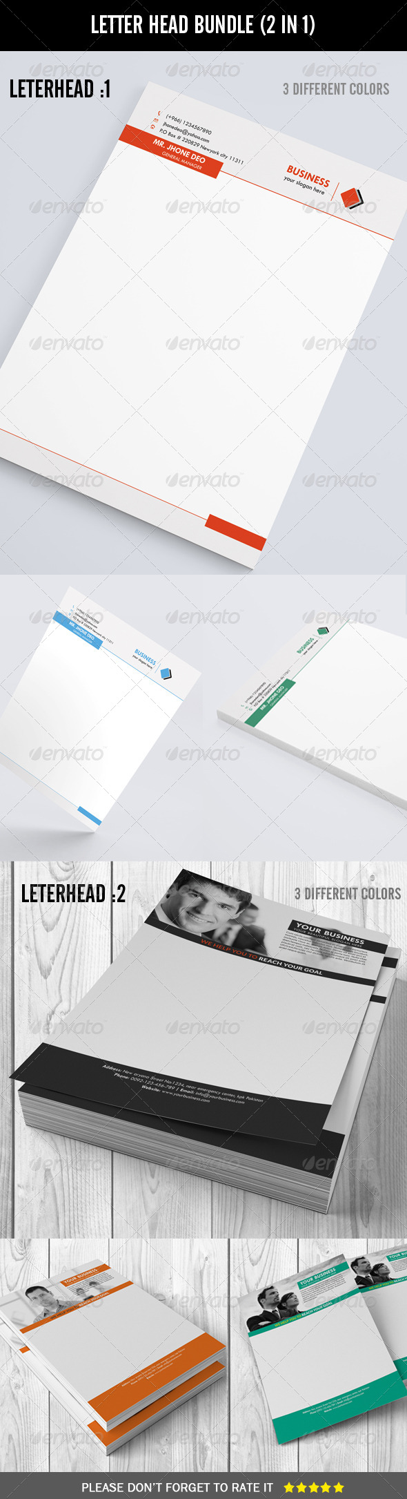 GraphicRiver Letter Head Bundle 2 in 1 7606219