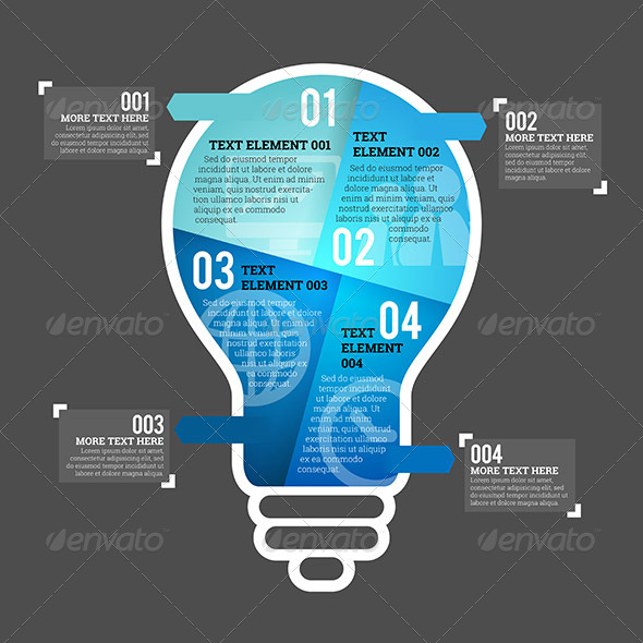 GraphicRiver Four Part Bulb Infographic Element 7606254