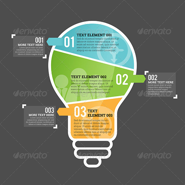 GraphicRiver Three Part Bulb Infographic Element 7606263