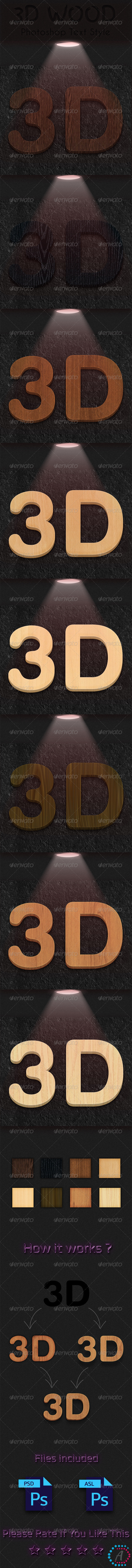 GraphicRiver Wood Text Style 3D&HD 7606266