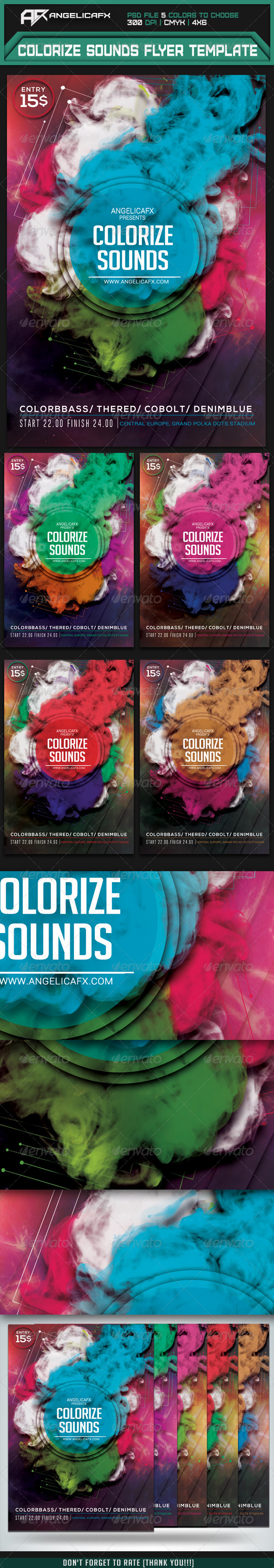 GraphicRiver Colorize Sounds Flyer Template 7606429