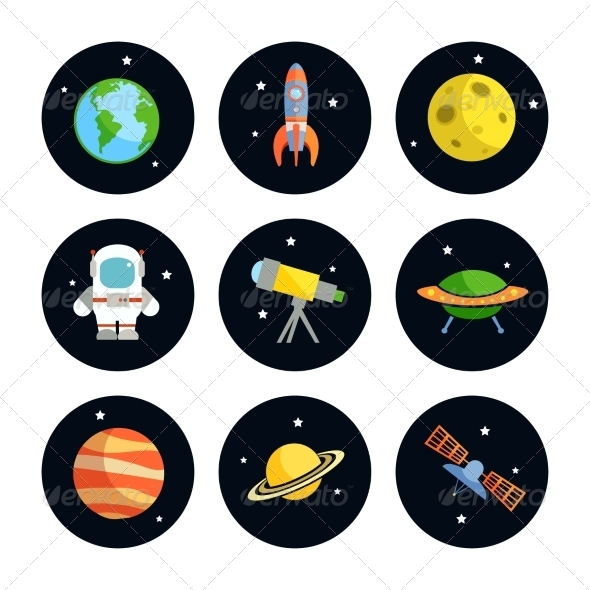 GraphicRiver Space Icons Set 7606475