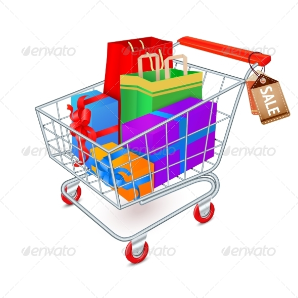 GraphicRiver Shopping Cart Full Emblem 7606483