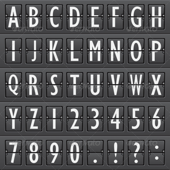 GraphicRiver Airport Board Alphabet 7606494