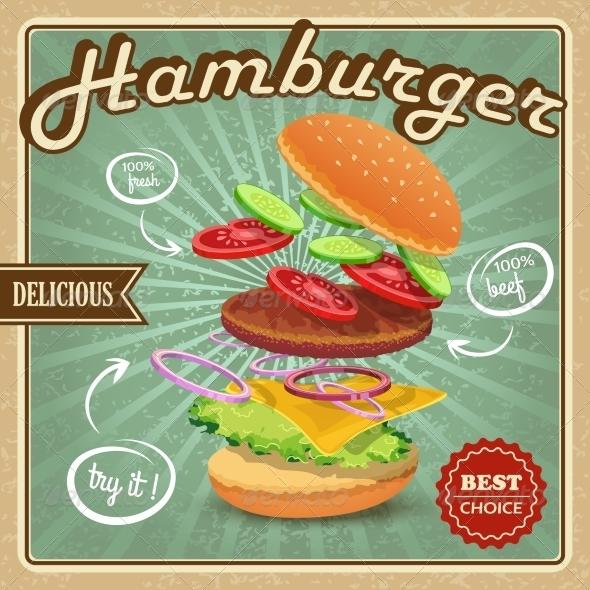 GraphicRiver Hamburger Retro Poster 7606500