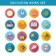 Education Icons Flat Set - GraphicRiver Item for Sale