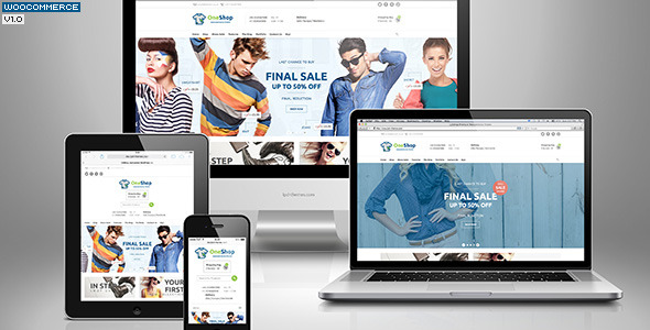 123Shop eCommerce Wordpress Theme - Preview image