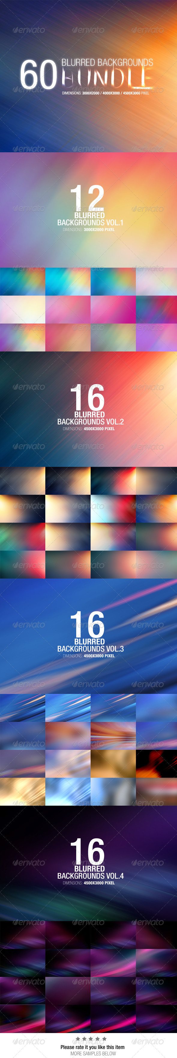 GraphicRiver 60 Blurred Backgrounds Bundle 7606537