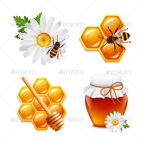 GraphicRiver Honey Icons Set 7606562