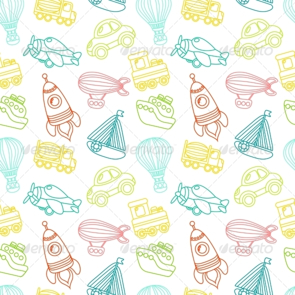 GraphicRiver Transport Toy Seamless Pattern 7606570