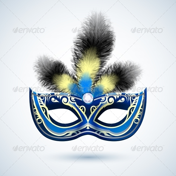 GraphicRiver Party Mask Emblem 7606578