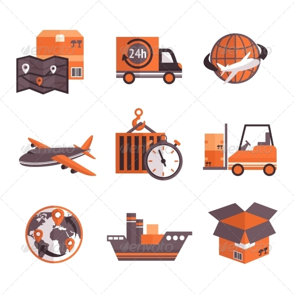 GraphicRiver Logistic Services Icons Set 7606580