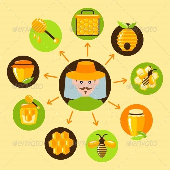 GraphicRiver Honey Icons Set 7606582