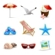 Realistic Summer Vacation Icons - GraphicRiver Item for Sale
