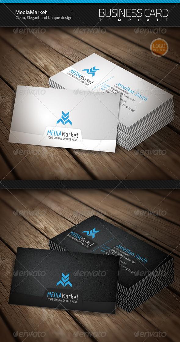 GraphicRiver MediaMarket Business Card & Logo 687445