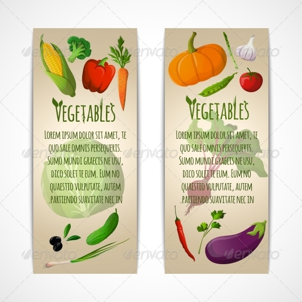 GraphicRiver Vegetable Banners 7606633