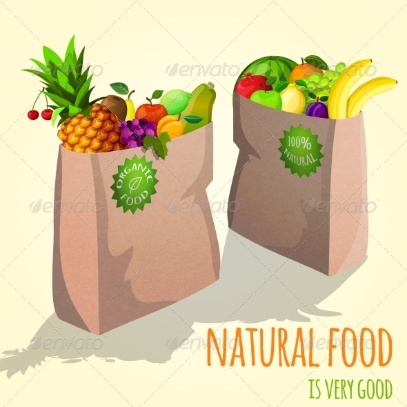 GraphicRiver Fruit in Paper Bags 7606674