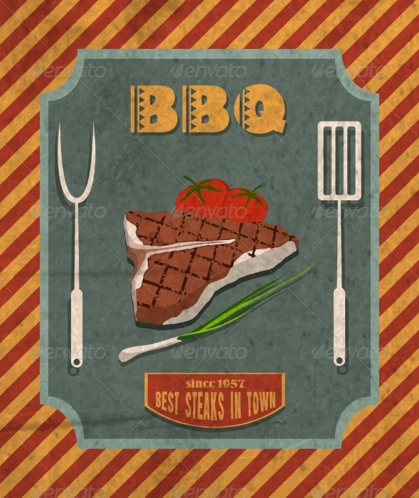 GraphicRiver Barbecue retro poster 7606694