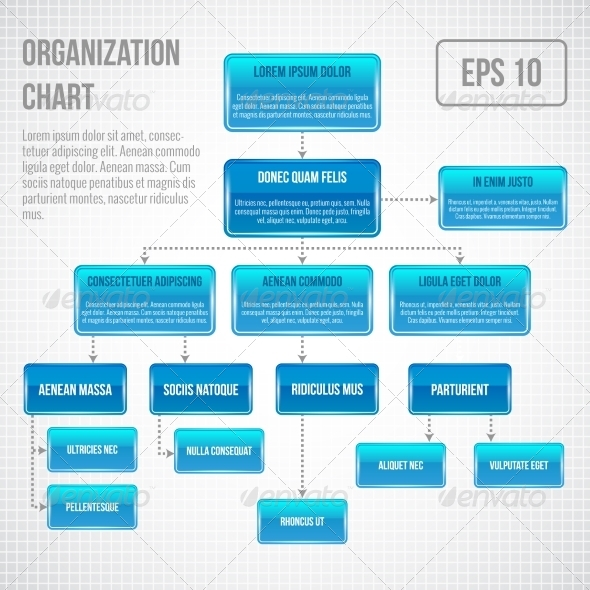 GraphicRiver Organizational Chart Infographic 7606704