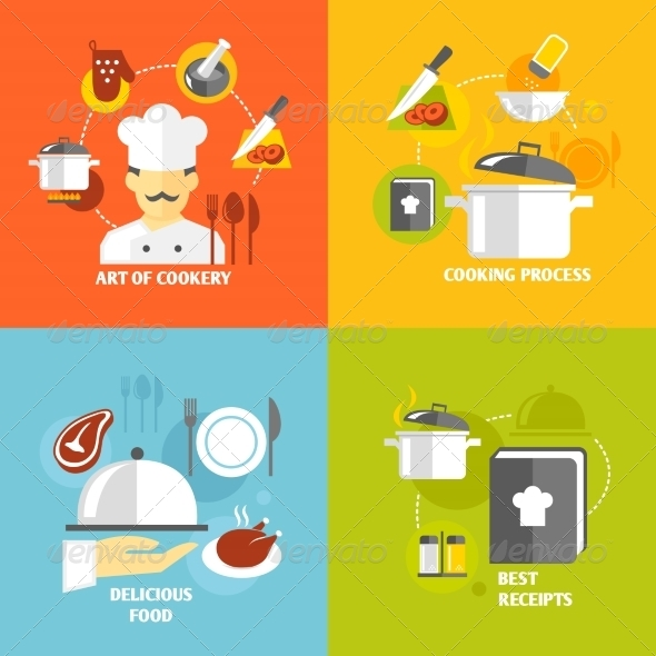 GraphicRiver Cooking Icons Flat 7606706