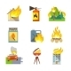 Fire Protection Icons - GraphicRiver Item for Sale
