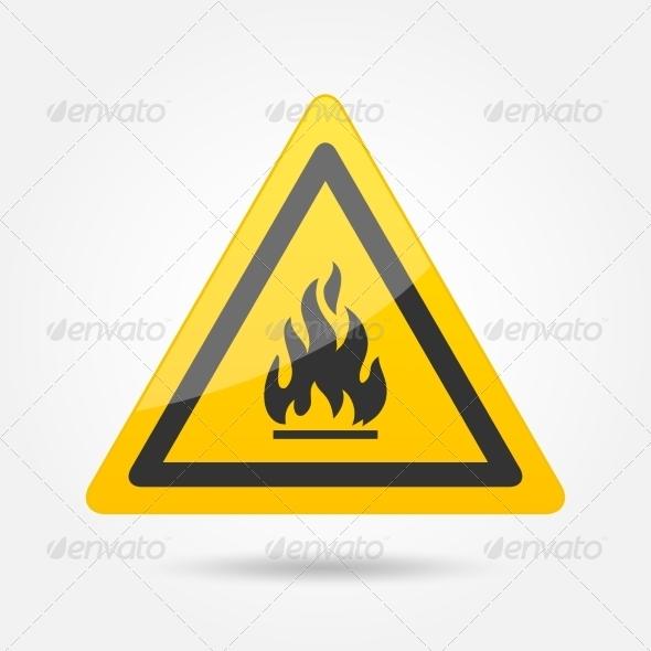 GraphicRiver Fire Attention Icon 7606709