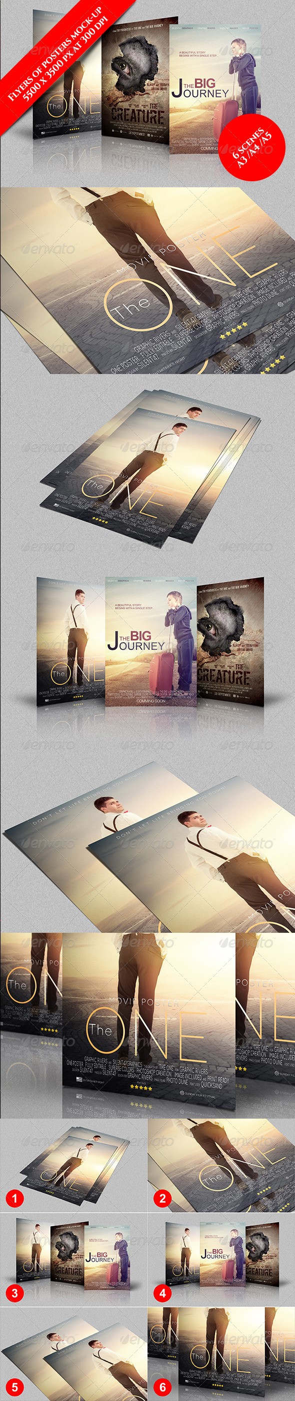 GraphicRiver Flyer Or Poster Mock Up 7606746