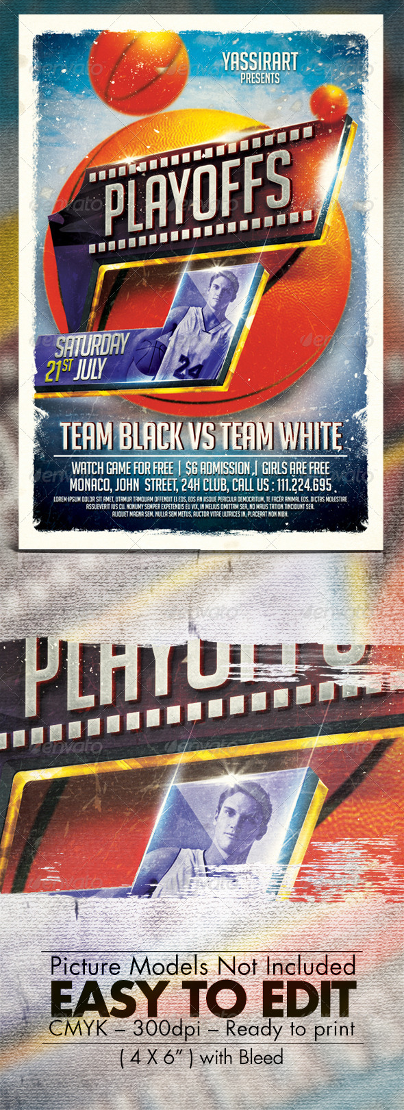 GraphicRiver Playoffs Party Template 7606770