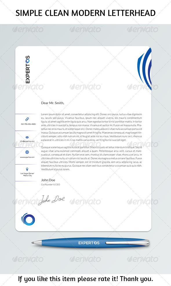 GraphicRiver Simple clean modern letterhead 7606771