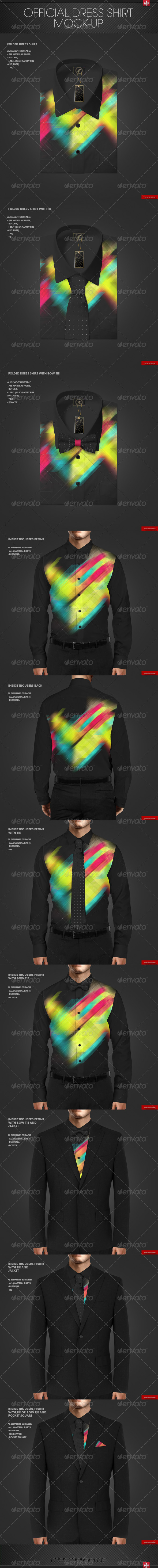 GraphicRiver Official Dress Shirt Mock-up 7608196